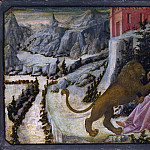 Part 2 National Gallery UK - Fra Filippo Lippi and workshop - Saint Jerome and the Lion - Predella Panel