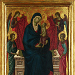 Part 2 National Gallery UK - Follower of Duccio - The Virgin and Child with Four Angels