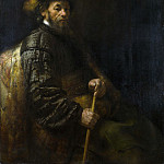 Follower of Rembrandt – A Seated Man with a Stick, Part 2 National Gallery UK