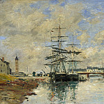 Eugene Boudin – Deauville Harbour, Part 2 National Gallery UK