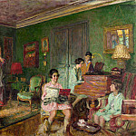Madame Andre Wormser and her Children, Edouard Vuillard