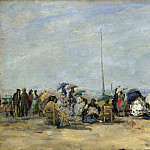 Eugene Boudin – Beach Scene, Trouville, Part 2 National Gallery UK