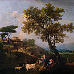 Francesco Zuccarelli – Landscape with Cattle and Figures, Part 2 National Gallery UK