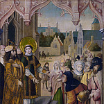 Part 2 National Gallery UK - Circle of the Master of the Saint Ursula Legend (Cologne) - Saint Lawrence before the Prefect