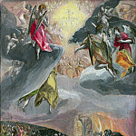 El Greco – The Adoration of the Name of Jesus, Part 2 National Gallery UK