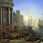 Part 2 National Gallery UK - Claude - Seaport with the Embarkation of Saint Ursula