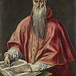 El Greco – Saint Jerome as Cardinal, Part 2 National Gallery UK