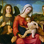 The Virgin and Child with Saints and Donors, Francesco Bissolo