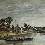 Part 2 National Gallery UK - Eugene Boudin - L Hopital Camfrout, Brittany