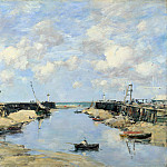 The Entrance to Trouville Harbour, Eugene Boudin