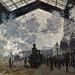 The Gare St-Lazare, Claude Oscar Monet