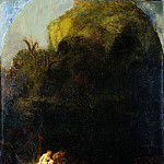 Part 2 National Gallery UK - Follower of Rembrandt - Diana bathing surprised by a Satyr