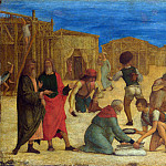 Ercole de Roberti – The Israelites gathering Manna, Part 2 National Gallery UK