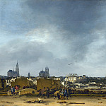 Egbert van der Poel – A View of Delft after the Explosion of 1654, Part 2 National Gallery UK