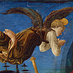 Part 2 National Gallery UK - Francesco Pesellino and completed by Fra Filippo Lippi and workshop - Angel (Left Hand)