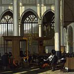 Emanuel de Witte – The Interior of the Oude Kerk, Amsterdam, Part 2 National Gallery UK
