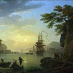 A Landscape at Sunset, Claude-Joseph Vernet