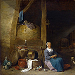An Old Woman peeling Pears, David II Teniers