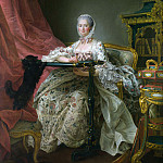 Part 2 National Gallery UK - Francois-Hubert Drouais - Madame de Pompadour at her Tambour Frame