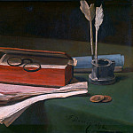 Part 2 National Gallery UK - Francois Bonvin - Still Life with Book, Papers and Inkwell