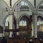 Part 2 National Gallery UK - Emanuel de Witte - The Interior of the Oude Kerk, Amsterdam
