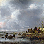 Part 2 National Gallery UK - Follower of Isack van Ostade - An Inn by a Frozen River