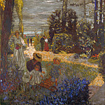 The Terrace at Vasouy, the Garden, Edouard Vuillard