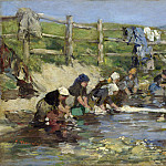 Eugene Boudin – Laundresses by a Stream, Part 2 National Gallery UK