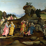 Moses brings forth Water out of the Rock, Filippino Lippi