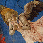 Part 2 National Gallery UK - Francesco Pesellino and completed by Fra Filippo Lippi and workshop - Angel (Right Hand)
