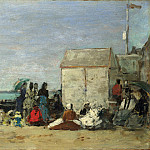 Part 2 National Gallery UK - Eugene Boudin - Beach Scene, Trouville