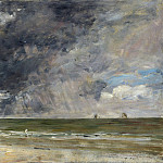 Eugene Boudin – Beach at Trouville, Part 2 National Gallery UK