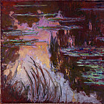 Water-Lilies, Setting Sun, Claude Oscar Monet