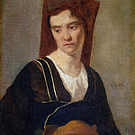 Part 2 National Gallery UK - Follower of Jean Baptiste Camille Corot - A Peasant Woman