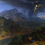 Mountain Landscape with Lightning, Jean-François Millet