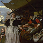 Emanuel de Witte – Adriana van Heusden and Daughter at the Fishmarket, Part 2 National Gallery UK