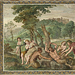Domenichino and assistants – The Flaying of Marsyas, Part 2 National Gallery UK