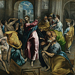 El Greco – Christ driving the Traders from the Temple, Part 2 National Gallery UK