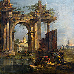 Part 2 National Gallery UK - Francesco Guardi - A Caprice with Ruins on the Seashore