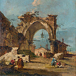 Part 2 National Gallery UK - Francesco Guardi - A Caprice with a Ruined Arch