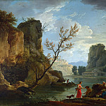 A River with Fishermen, Claude-Joseph Vernet