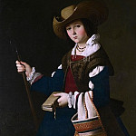 Francisco de Zurbaran – Saint Margaret of Antioch, Part 2 National Gallery UK
