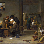 Part 2 National Gallery UK - David Teniers the Younger - Two Men playing Cards in the Kitchen of an Inn