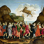 The Worship of the Egyptian Bull God, Apis, Filippino Lippi