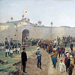 Nikolay (1837-1898) Dmitriev-Orenburgsky - Fortress of Nikopol surrender, July 4, 1877. 1883. Canvas