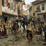 Nikolay (1837-1898) Dmitriev-Orenburgsky - Entrance of Grand Duke Nikolai Nikolaevich to Tarnovo, 30 June 1877. 1885.