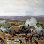 Nikolay (1837-1898) Dmitriev-Orenburgsky - Capture of Grivitsky redoubt at Plevna. 1885. Oil on canvas.