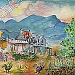 Walking in the countryside. 1944. Oil on canvas. 50. 8 x 66. 0 ES, David Davidovich Burliuk