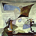 1936 Nature morte Е la lampe, Pablo Picasso (1881-1973) Period of creation: 1931-1942