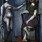 1939 Nu debout et femme assise 3, Pablo Picasso (1881-1973) Period of creation: 1931-1942